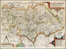 British Isles Map By William Kip / Christopher Saxton