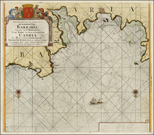 Mediterranean and North Africa Map By Johannes Van Keulen