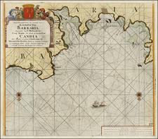 Mediterranean and North Africa Map By Johannes Van Keulen