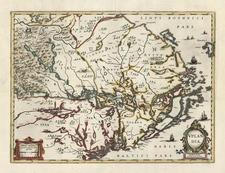 Europe and Scandinavia Map By Henricus Hondius