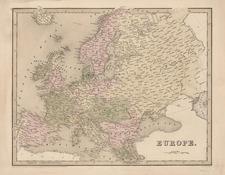 Europe and Europe Map By Thomas Gamaliel Bradford  &  Goodrich