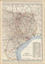 Texas Map By George F. Cram