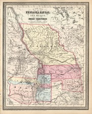 Midwest, Plains, Southwest and Rocky Mountains Map By Charles Desilver