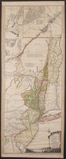 New England, Mid-Atlantic and Canada Map By Samuel Holland / Harry Lodowick Broenner