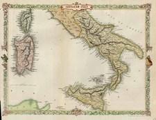 Europe, Italy, Mediterranean and Balearic Islands Map By John Tallis