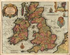 Europe and British Isles Map By Matthaus Merian