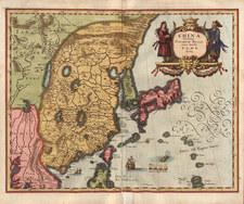 Asia, China, Japan and Korea Map By Matthaus Merian