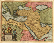 Europe, Turkey, Mediterranean, Asia, Middle East and Turkey & Asia Minor Map By Matthaus Merian