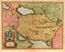 Asia, Central Asia & Caucasus and Middle East Map By Matthaus Merian