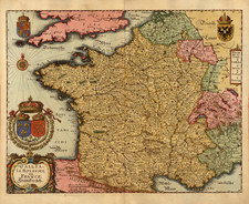 Europe and France Map By Matthaus Merian