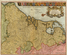 Europe and Netherlands Map By Matthaus Merian