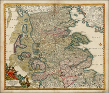 Germany and Scandinavia Map By Johann Baptist Homann
