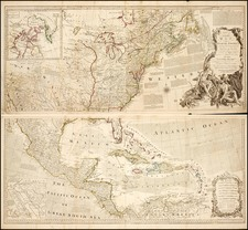 United States, Southeast and North America Map By Robert Sayer