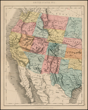 Plains, Southwest, Rocky Mountains and California Map By H.G. Collins