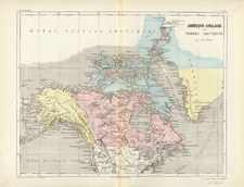 World, Polar Maps, Southwest, Alaska and Canada Map By Adolphe Hippolyte Dufour