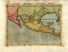 South, Southeast, Southwest and Mexico Map By Girolamo Ruscelli