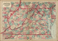 Mid-Atlantic and Southeast Map By Asher  &  Adams