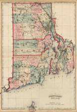 New England Map By Asher  &  Adams