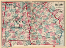 South and Southeast Map By Asher  &  Adams