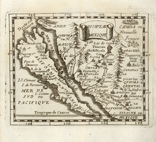 Southwest, Mexico, Baja California and California Map By Pierre Du Val