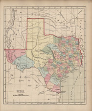 Texas and Southwest Map By Sidney Morse