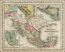Texas, Southwest, Mexico and California Map By Charles Desilver