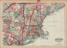 New England and Canada Map By Asher  &  Adams