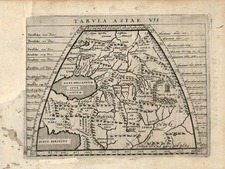 Asia, Central Asia & Caucasus, Middle East and Russia in Asia Map By Giovanni Antonio Magini