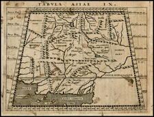 Asia, India and Central Asia & Caucasus Map By Giovanni Antonio Magini