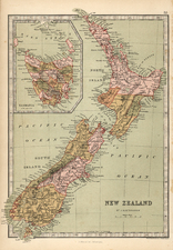 Australia & Oceania and New Zealand Map By T. Ellwood Zell