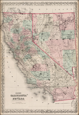 California Map By G.W.  & C.B. Colton