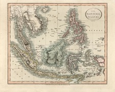 Asia and Southeast Asia Map By John Cary