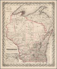 Midwest Map By Joseph Hutchins Colton