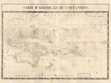 Pacific and Oceania Map By Philippe Marie Vandermaelen