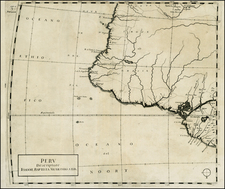 South America and Brazil Map By Giovanni Battista Nicolosi