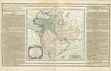 Asia, Middle East and Turkey & Asia Minor Map By Louis Brion de la Tour