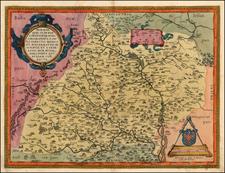 Austria and Czech Republic & Slovakia Map By Abraham Ortelius