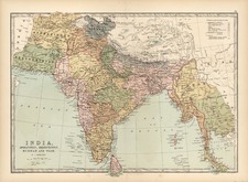 Asia, India, Southeast Asia and Central Asia & Caucasus Map By T. Ellwood Zell