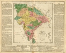 Asia and India Map By Carey & Son