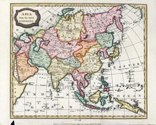 Asia and Asia Map By Charles Brightly  &  T. Kinnersley