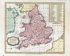 Europe and British Isles Map By Charles Brightly  &  T. Kinnersley