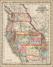 Southwest, Rocky Mountains and California Map By Charles Desilver