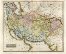 Europe, Russia, Asia, Central Asia & Caucasus, Middle East and Russia in Asia Map By John Thomson