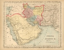 Asia, Central Asia & Caucasus and Middle East Map By Charles Desilver