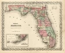 Southeast Map By G.W.  & C.B. Colton