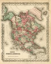 North America Map By G.W.  & C.B. Colton