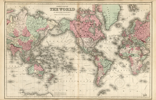 World and World Map By G.W.  & C.B. Colton