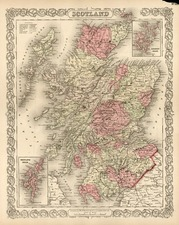 Europe and British Isles Map By Joseph Hutchins Colton