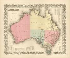 Australia & Oceania and Australia Map By Joseph Hutchins Colton