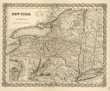 Map By Joseph Hutchins Colton